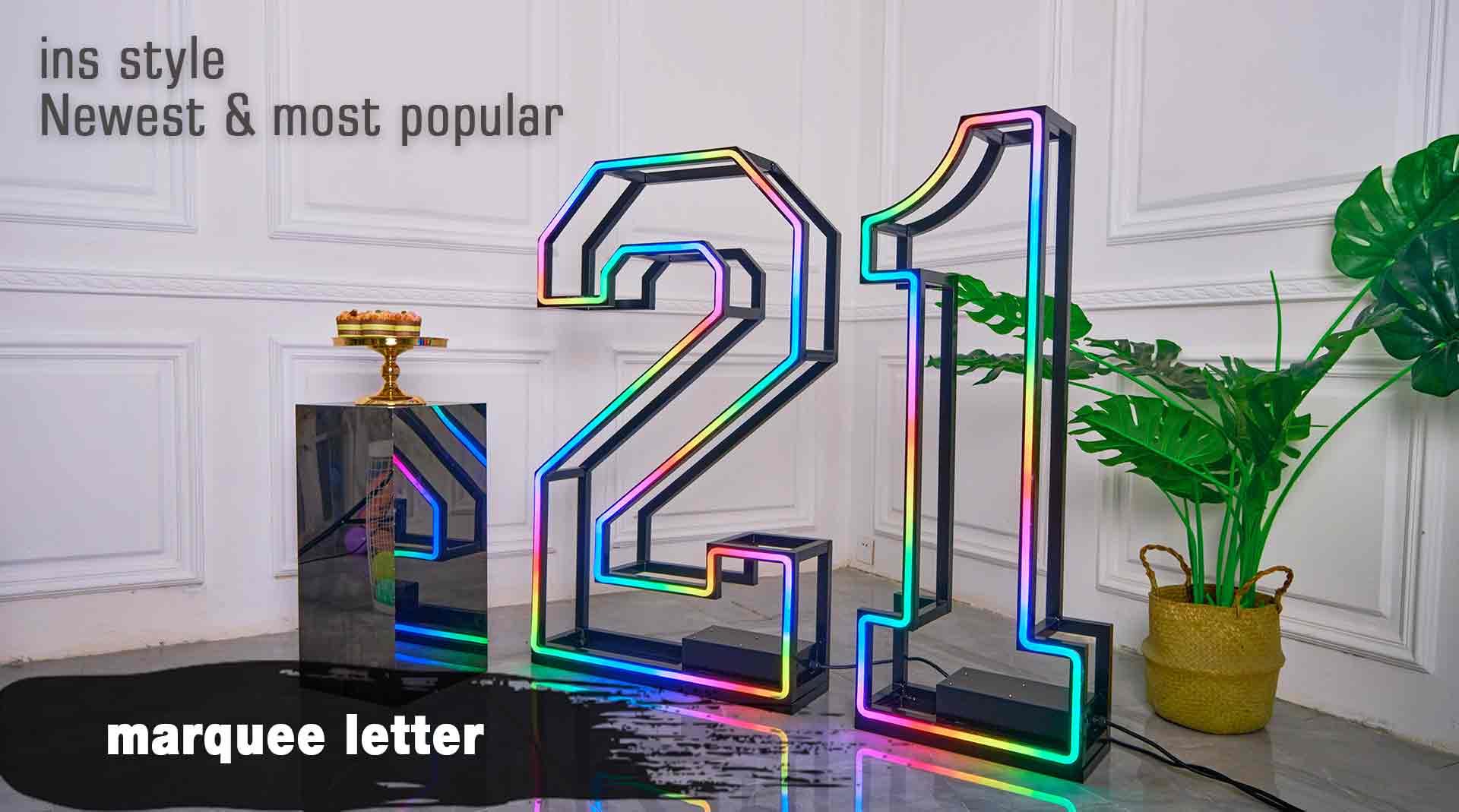 big letter lights