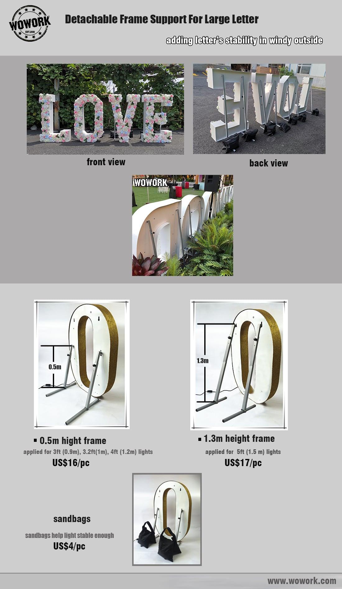 letter light freestanding