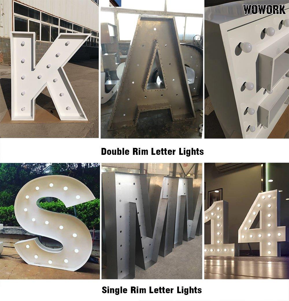 double rim big letter