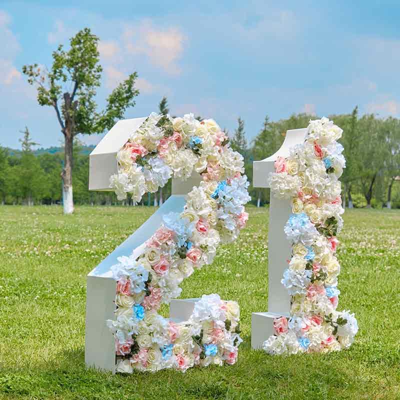 big flower letter
