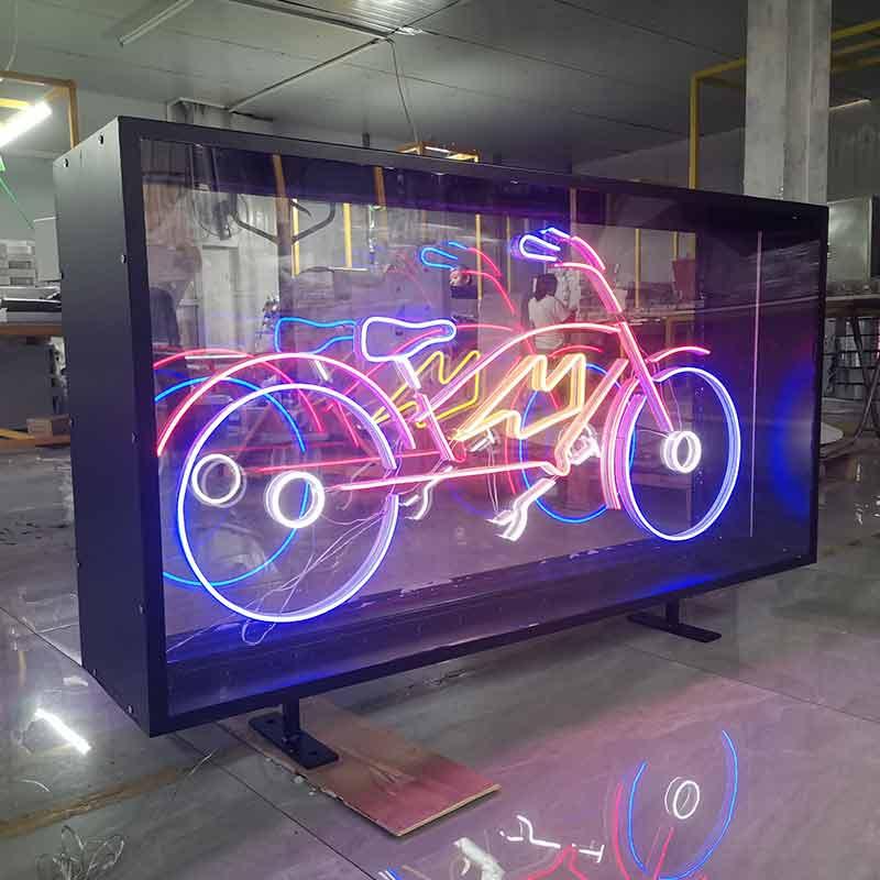 neon light box
