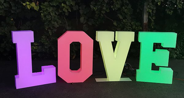 3D solid acrylic letter