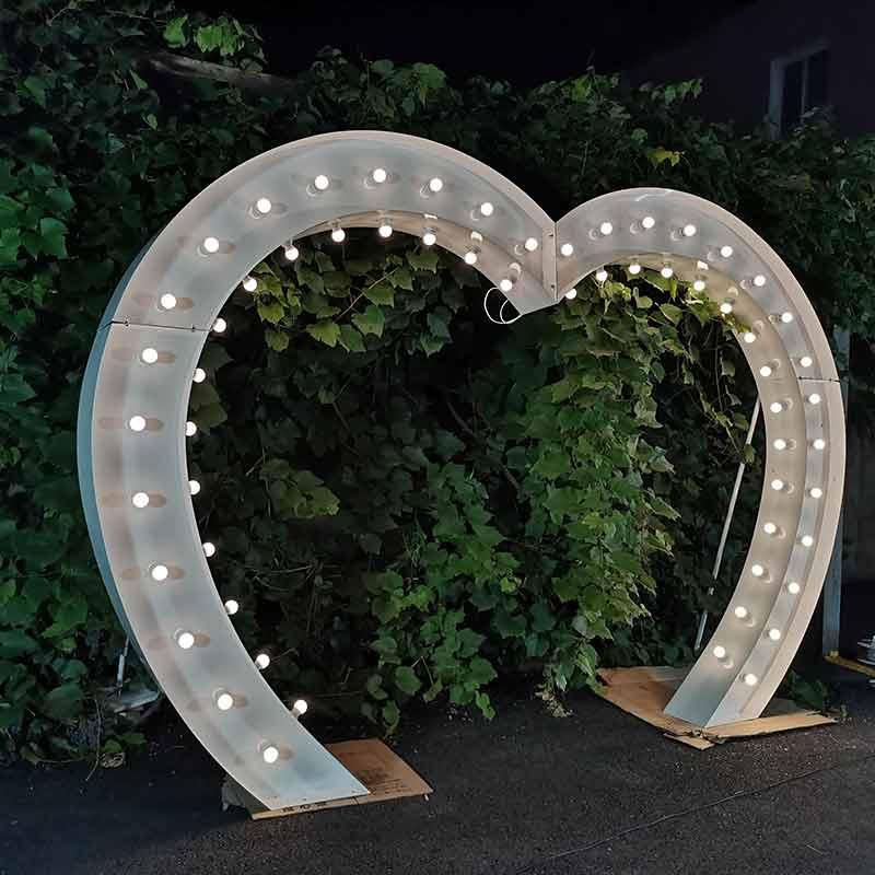 heart shaped wedding arch