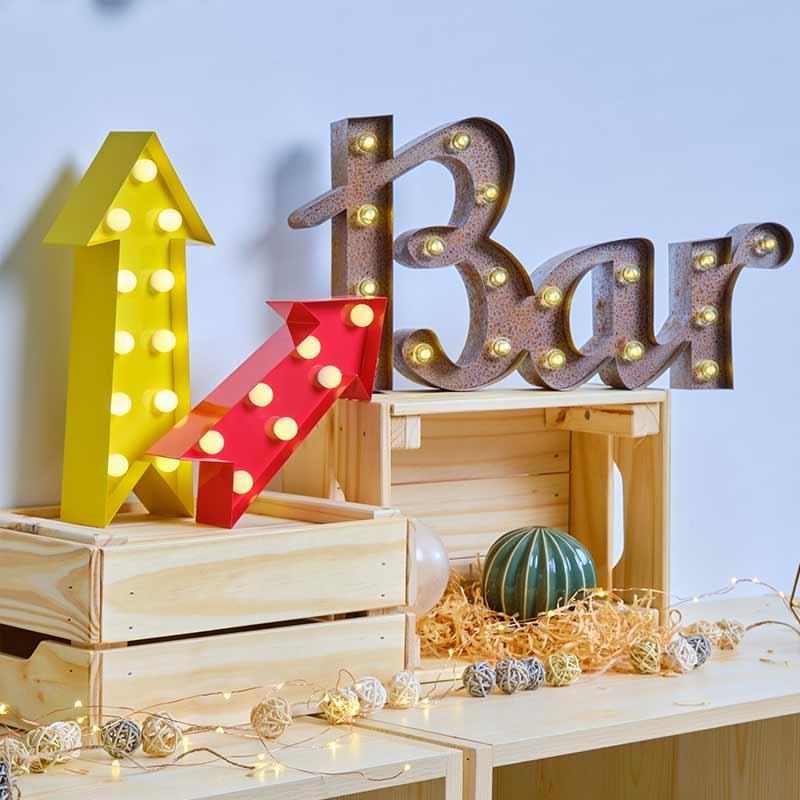 bar letter light
