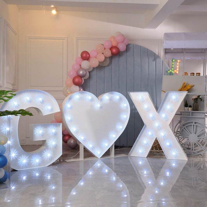 big light up letters