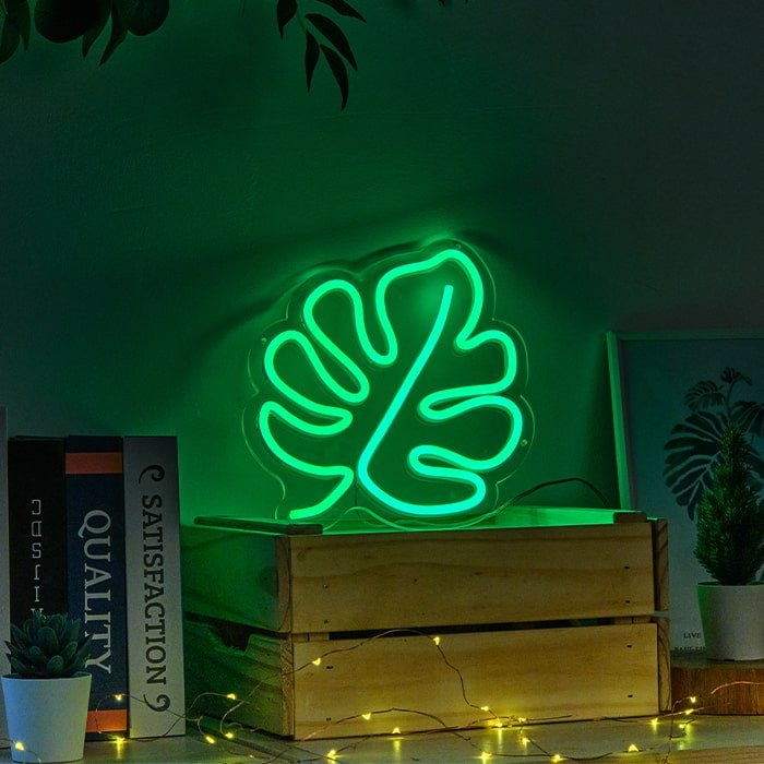 leaf neon lamp
