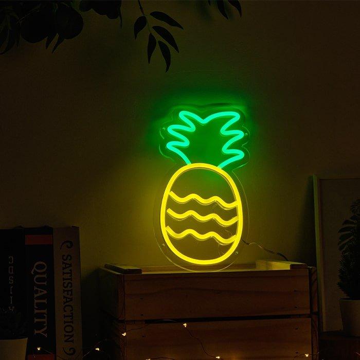pineapple neon table light