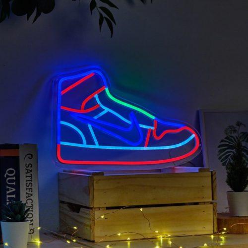 shoe neon sign