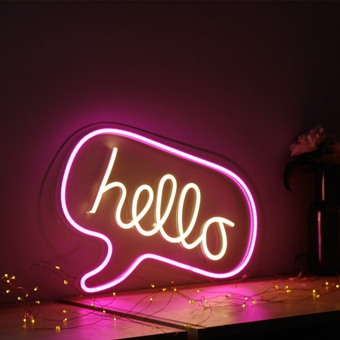 custom neon word lights