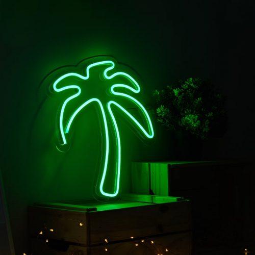 coconut tree neon