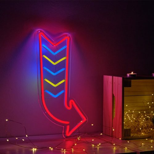 arrow neon light