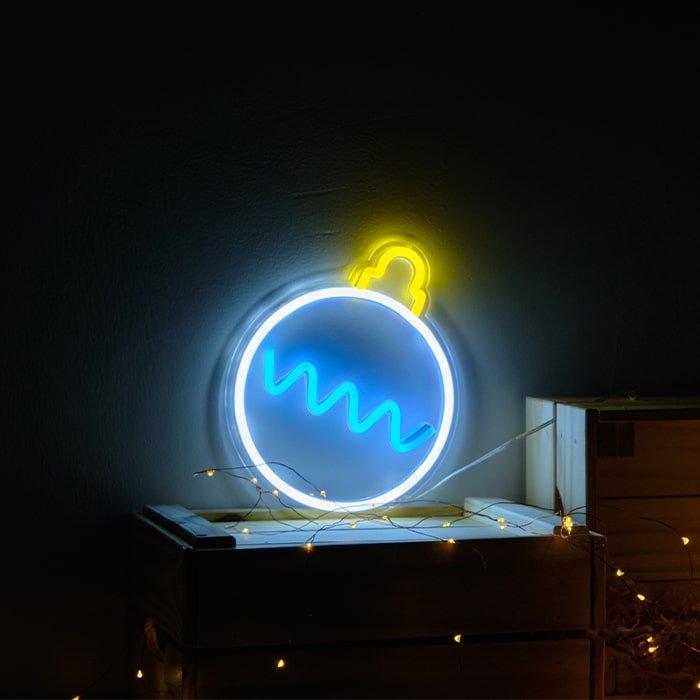 christmas decor neon sign