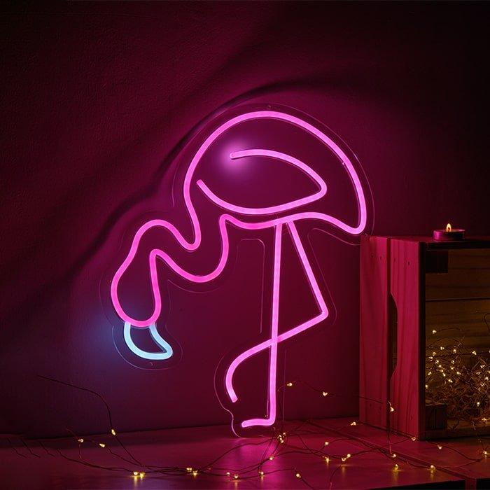 flamingo neon sign