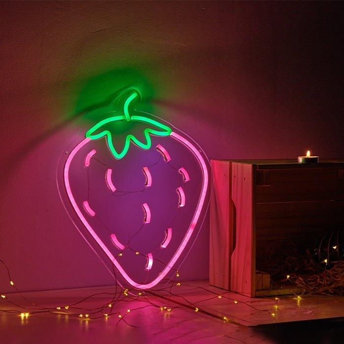 fruit neon light