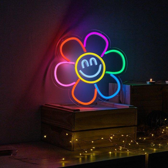 flower neon