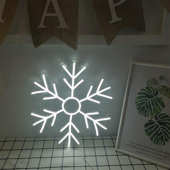snowflake neon light