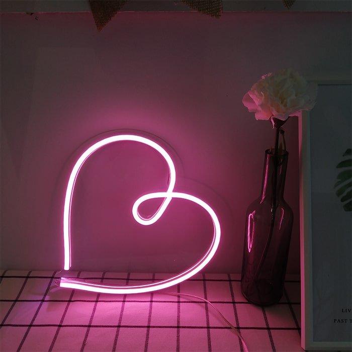 heart light neon