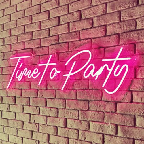 party time neon sign