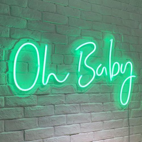 baby shower neon sign