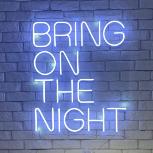 party all night neon light