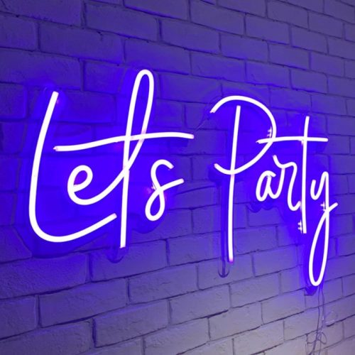 party neon signs