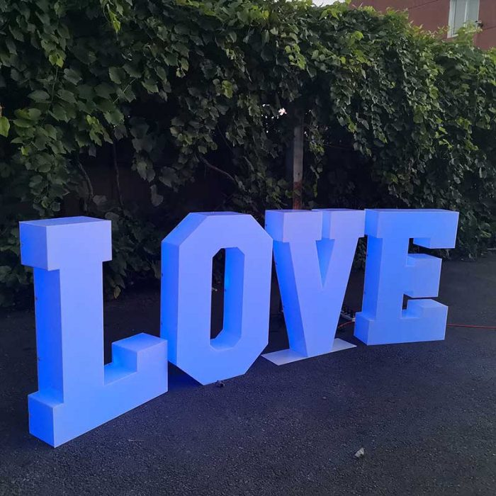RGB Solid Letter for wedding