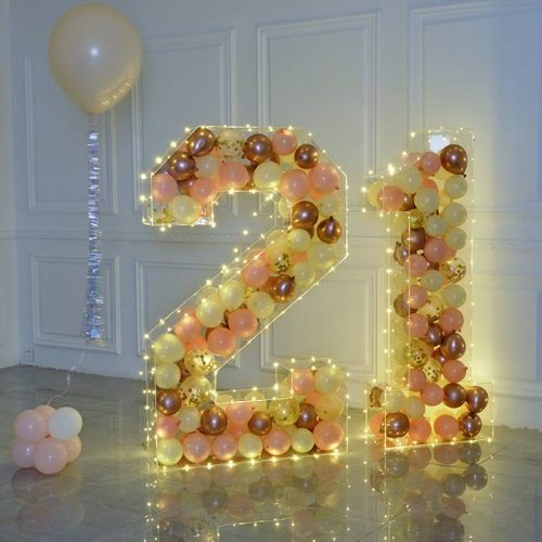 Acrylic balloon letter for wedding and party