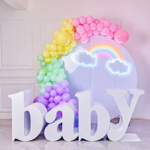 baby letter table for party