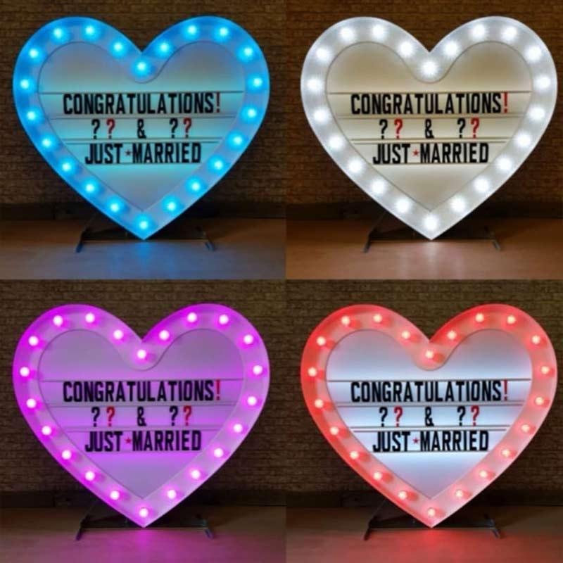 Heart light box for wedding