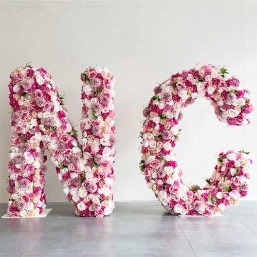Big Floral letter for wedding