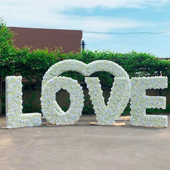 """Big Floral letter """"love"""" for wedding"""