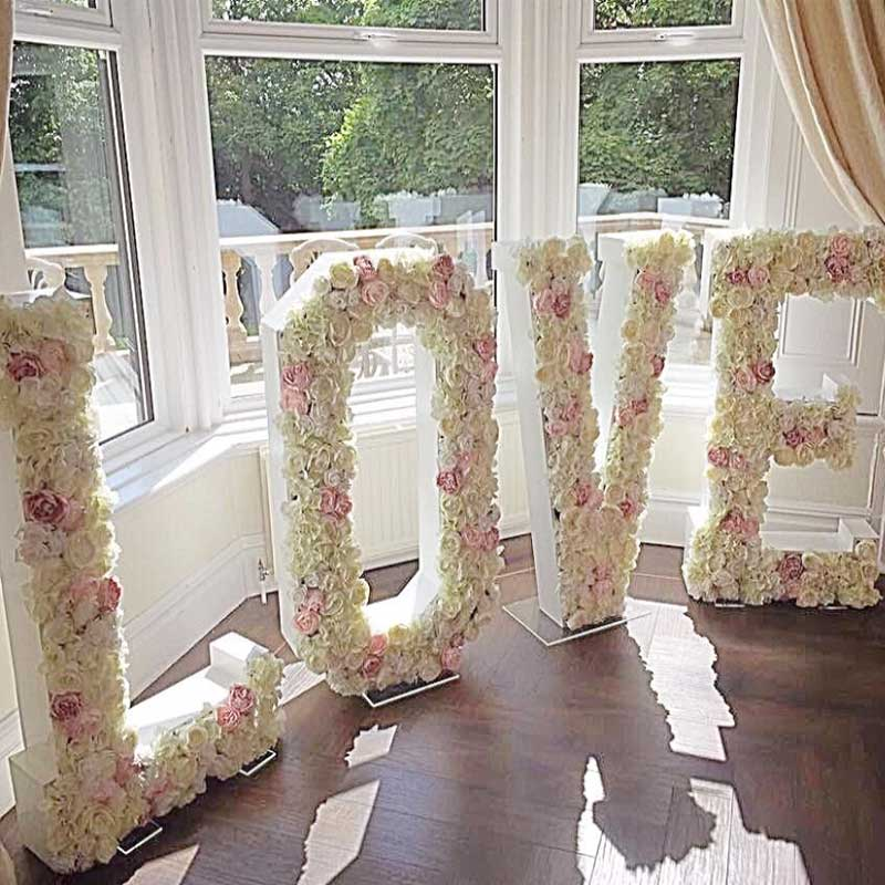 Big LOVE Flower letter