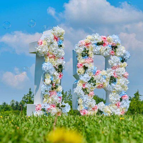 """Big Floral letter """"0-9"""""""