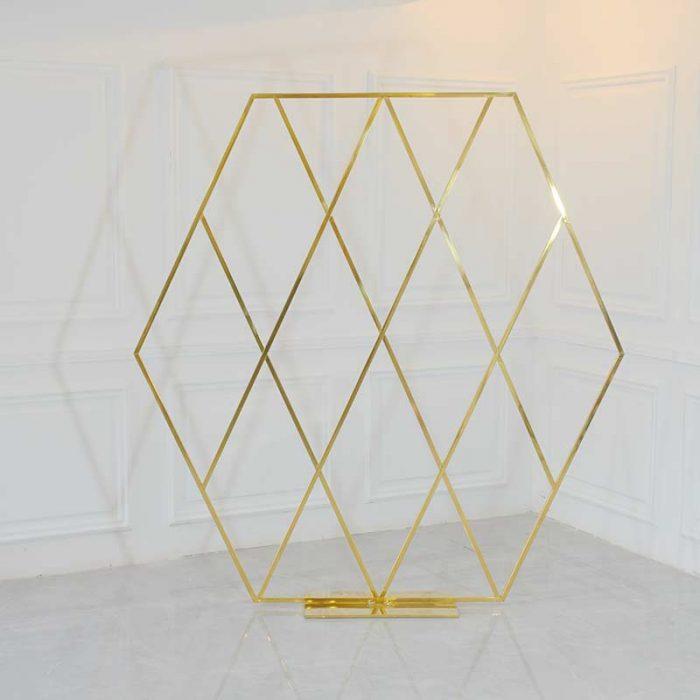 wedding hexagon arch