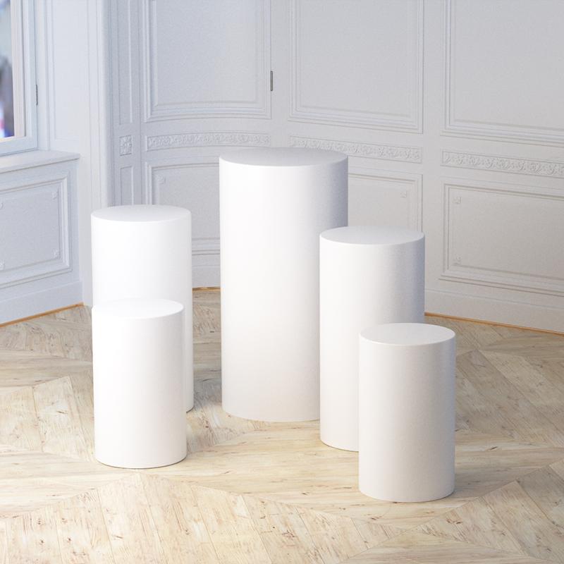 cylinder pedestal display