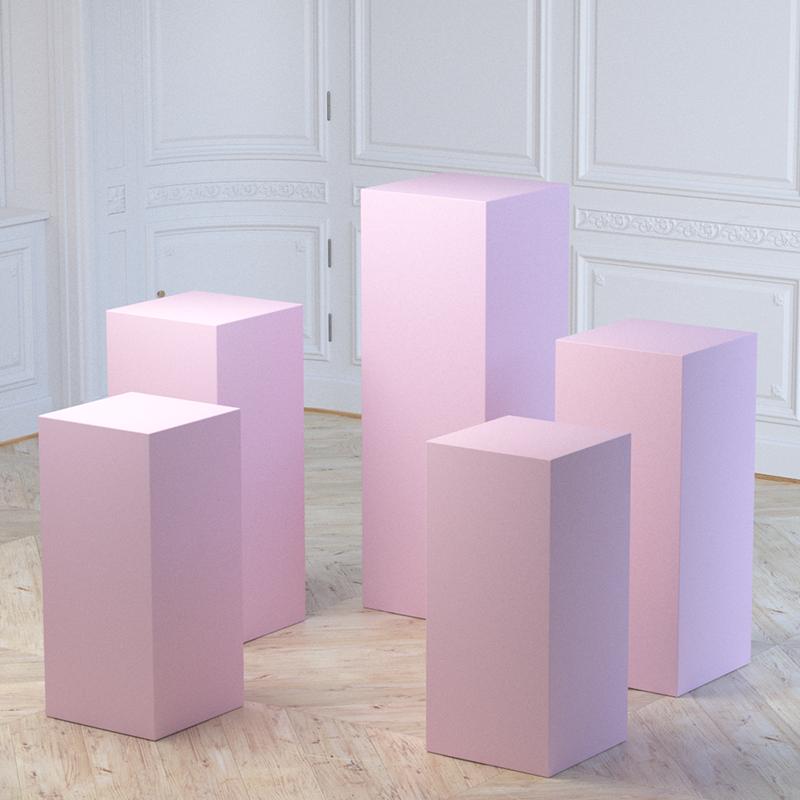 display cylinder pedestal