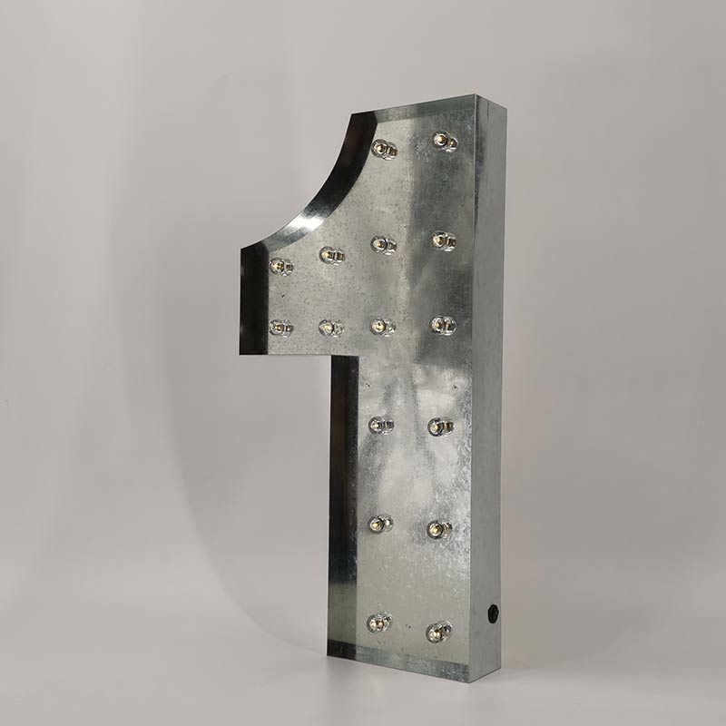 galvanized marquee numbers