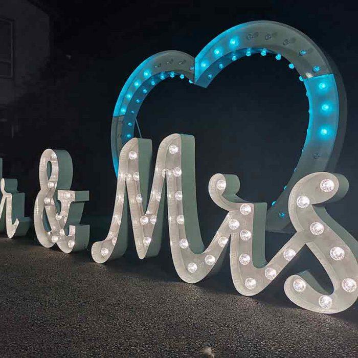 large letter lights
