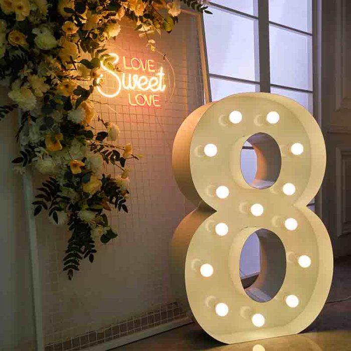 large marquee numbers