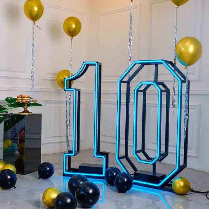large light up numbers
