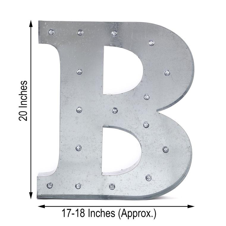 galvanized marquee letters