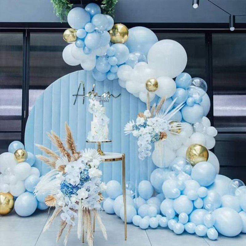 Romantic blue party
