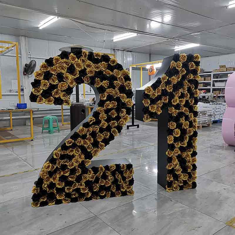 floral number letter