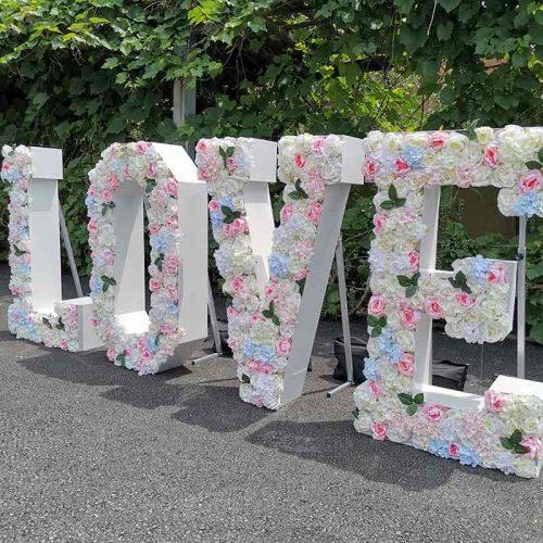 LOVE floral letter