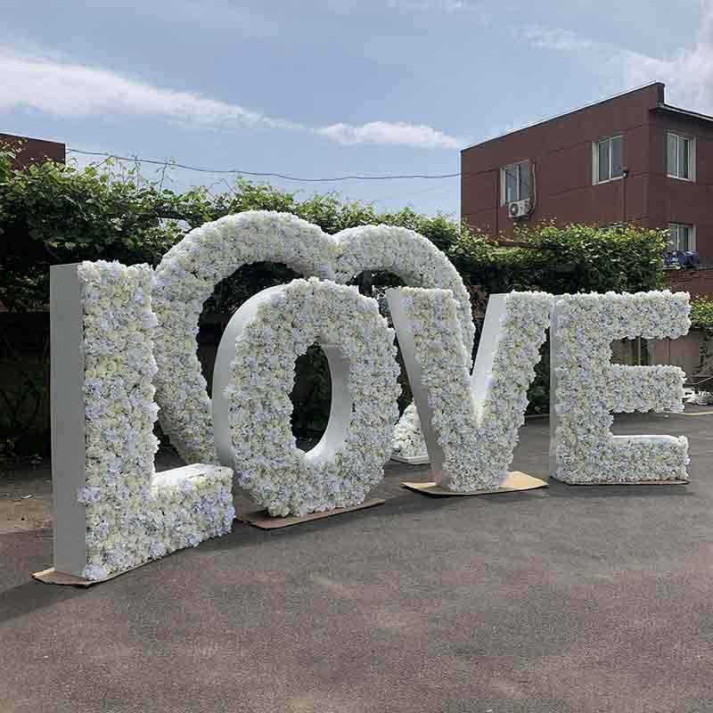 wedding love floral letter