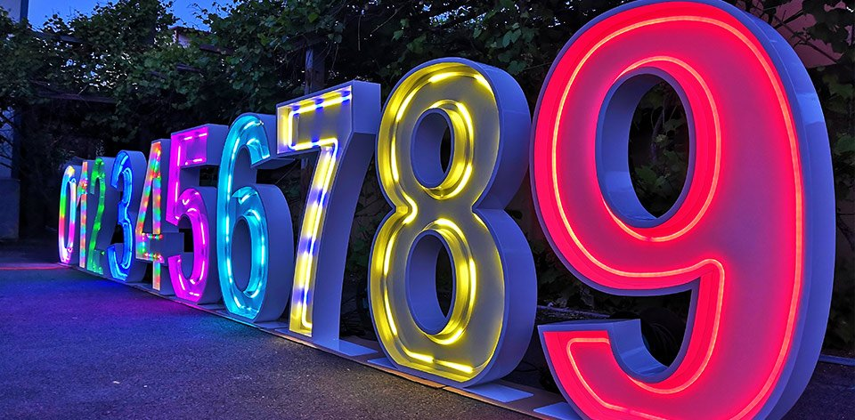 wedding marquee numbers