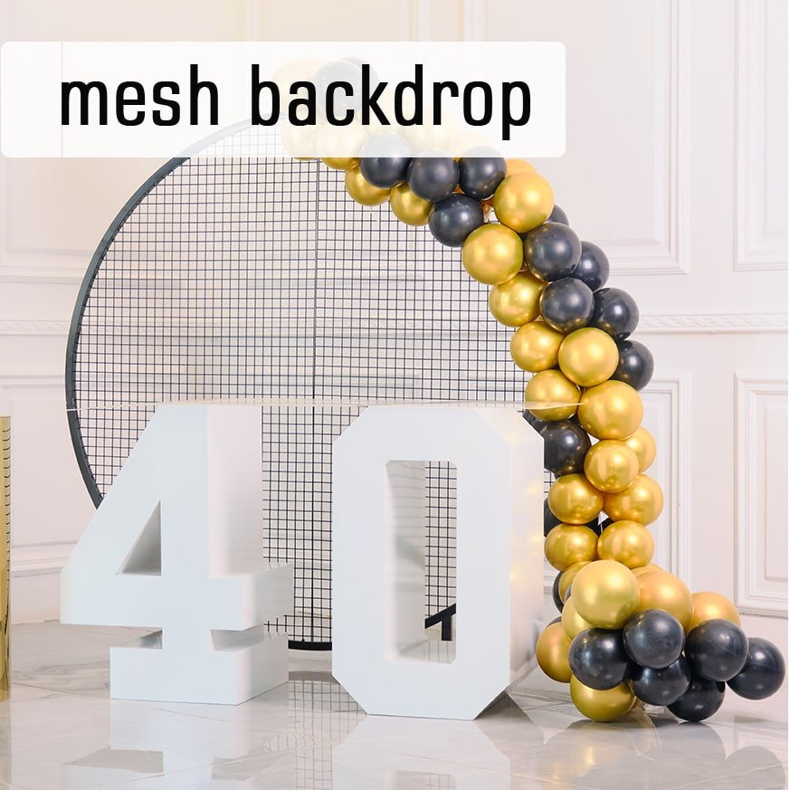 mesh backdrop