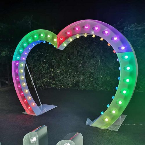 led wedding arch