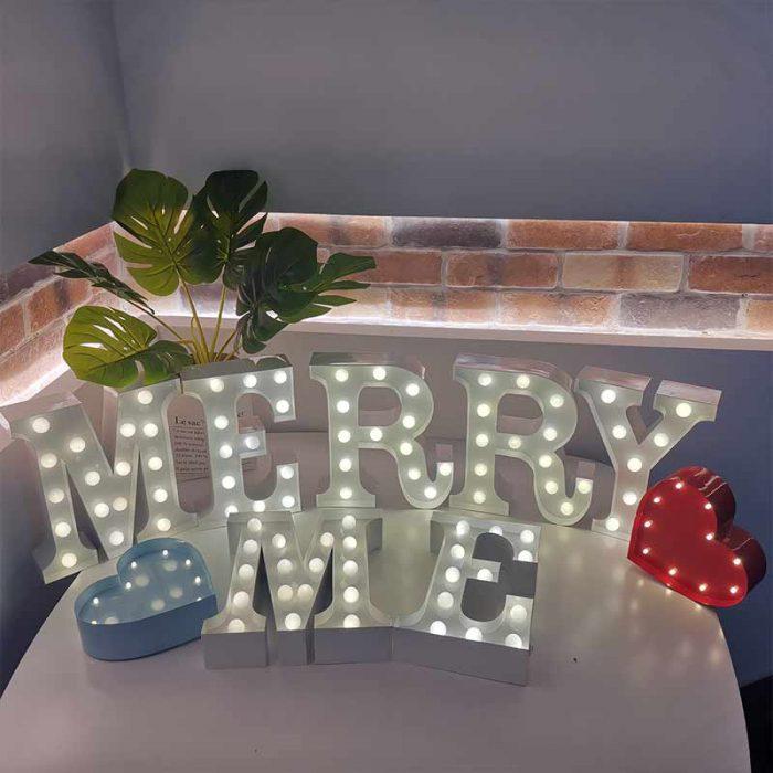 MERRY ME letter light