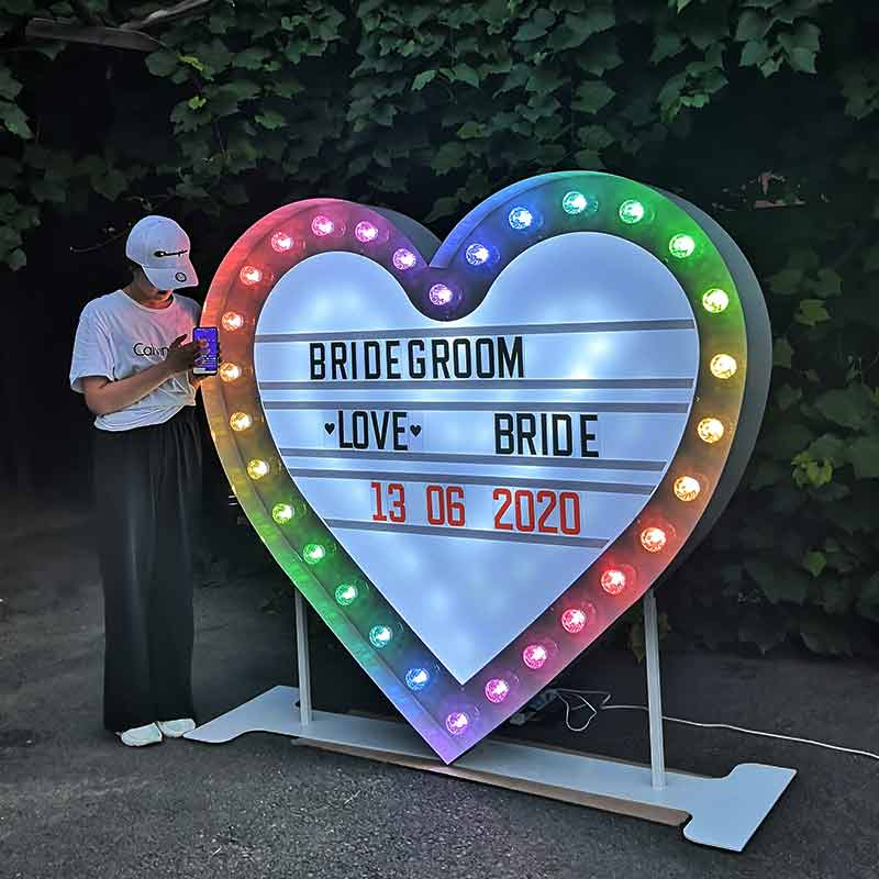 RGB heart light box